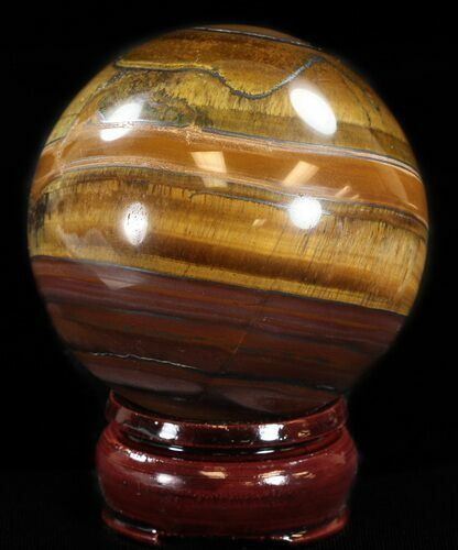 "2.6"" Polished Tiger's Eye Sphere"