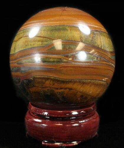 "2.4"" Polished Tiger's Eye Sphere"