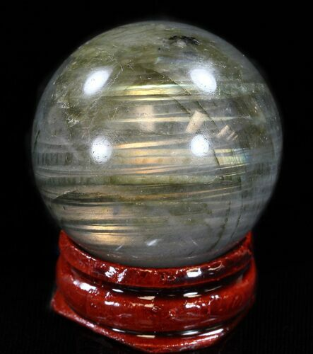 "1.4"" Flashy Labradorite Sphere - Great Color Play"