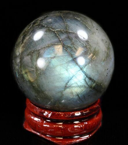 "1.5"" Flashy Labradorite Sphere - Great Color Play"
