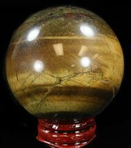 "Top Quality 2.2"" Polished Tiger Iron (Tiger's Eye) Sphere For Sale, #37682"