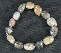 Colorado Agatized Dinosaur Bone Bracelet For Sale, #40856