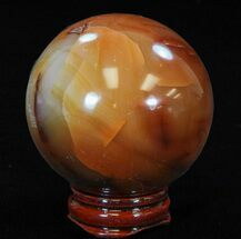 "Buy 2.5"" Colorful Carnelian Agate Sphere - #41206"