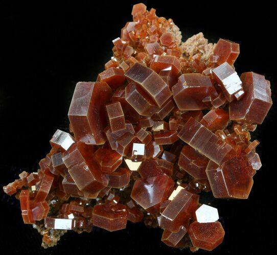 "2.1"" Large, Ruby Red Vanadinite Crystal Cluster - Morocco"