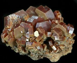 "1.6"" Large Red Vanadinite Crystals on Matrix - Morocco For Sale, #42200"