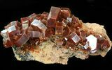 "3.5"" Huge Red & Brown Vanadinite Crystals on Matrix - Morocco - #42208-2"