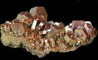 "2.8"" Lustrous Red Vanadinite Crystals on Matrix - Morocco For Sale, #42209"