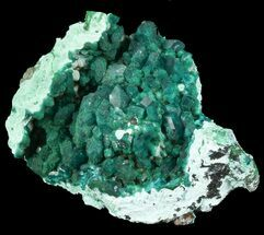 Dioptase & Plancheite - Fossils For Sale - #45297