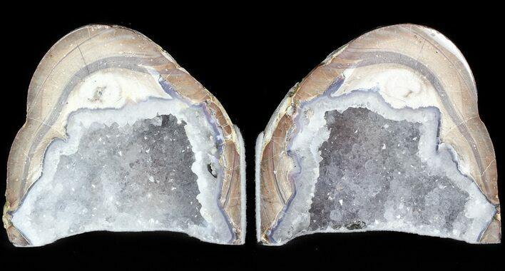 "4.1"" Dugway Geode Bookends - Sparking Crystals"