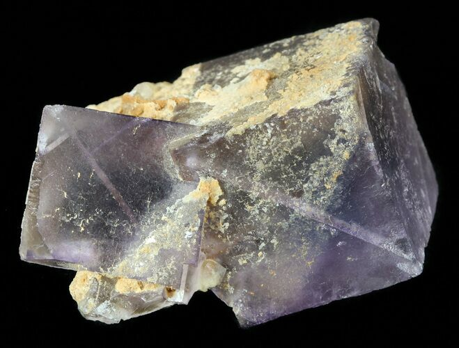 "1.6"" Purple, Cubic Fluorite with Calcite - Pakistan"