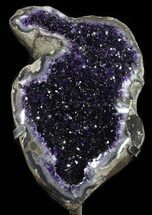 "Buy 20.4"" Amethyst Geode On Metal Stand - Extra Dark Crystals - #50812"