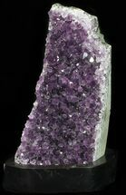 "Buy 7.2"" Dark Purple Amethyst Cluster On Wood Base - #52633"