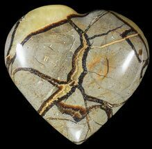 "Buy 3.6"" Polished Septarian ""Heart""  - #54694"