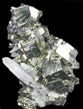 Pyrite, Sphalerite & Quartz - Fossils For Sale - #38904