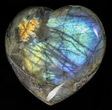 "Buy 3.7"" Flashy Polished Labradorite Heart - #58861"