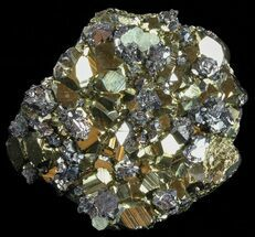 "Buy 3.7"" Gleaming Pyrite With Galena and Calcite Crystals - Peru - #59596"