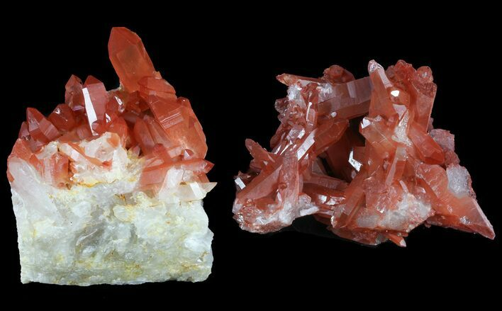 Natural Red Quartz Wholesale Lot - 8 Pieces