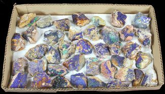 Buy Wholesale Flat: Sparkling, Drusy Azurite & Malachite - 37 Pieces - #61579