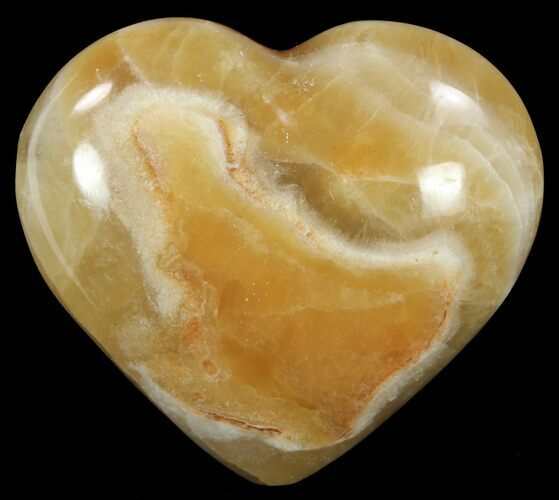 "2.9"" Polished, Brown Calcite Heart - Madagascar"