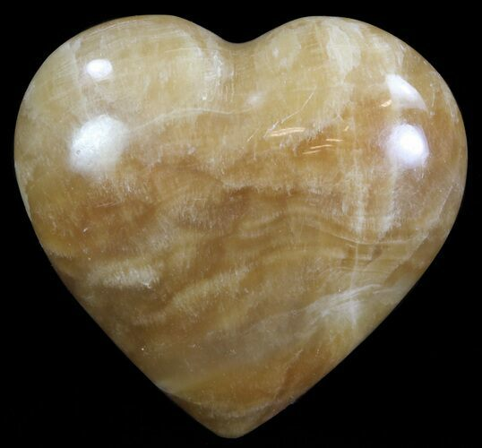 "2.8"" Polished, Brown Calcite Heart - Madagascar"