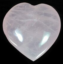 "3.6"" Polished Rose Quartz Heart - Madagascar For Sale, #63011"
