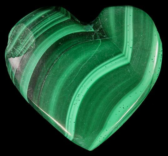 "Bargain 1"" Polished Malachite Heart - Congo"