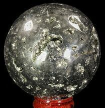 "2.55"" Polished Pyrite Sphere - Peru For Sale, #65135"