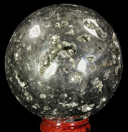 "2.55"" Polished Pyrite Sphere - Peru"