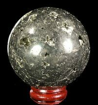 "2.5"" Polished Pyrite Sphere - Peru For Sale, #65111"
