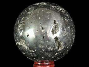"3.4"" Polished Pyrite Sphere - Peru For Sale, #65870"