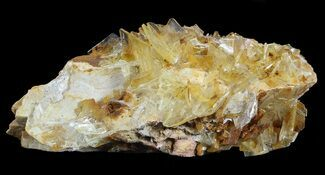 "3.2"" Yellow Barite Crystal Cluster - Peru For Sale, #64130"