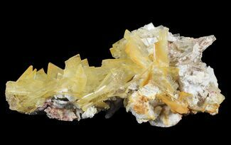 "2.7"" Yellow Barite Crystal Cluster - Peru For Sale, #64133"