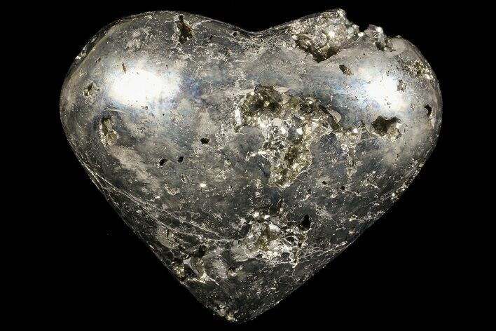 "2.8"" Polished Pyrite ""Heart"" - Peru"