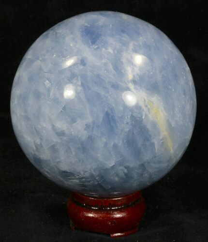 "3.61"" Polished Blue Calcite Sphere"