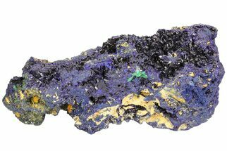 "Buy 8.3"" Azurite Crystal Cluster with Fibrous Malachite - Laos - #50779"