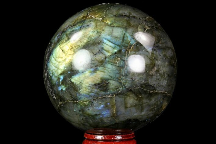 "2.8"" Flashy Labradorite Sphere - Great Color Play"
