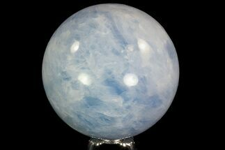 "3.5"" Polished Blue Calcite Sphere - Madagascar For Sale, #74462"