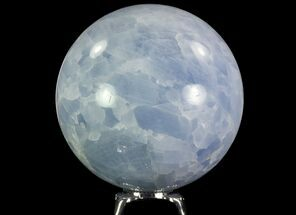 "Buy 3.2"" Polished Blue Calcite Sphere - Madagascar - #74443"