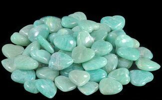 Small Polished Amazonite Hearts - Single Heart For Sale, #75641