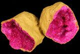 "Wholesale Box: 3 - 4"" Dyed (Pink) Quartz Geodes - 49 Pieces - #77248-1"