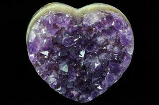 "Buy 3.4"" Purple Amethyst Crystal Heart - Uruguay - #76804"