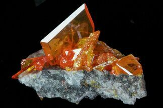 ".53"" Wulfenite Crystals - Rowley Mine, AZ For Sale, #76907"