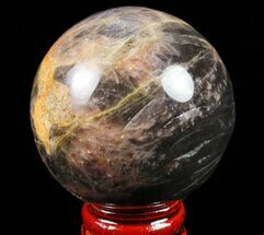 "Buy 2.1"" Polished Black Moonstone Sphere - Madagascar - #78943"