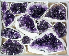Buy Wholesale Lot: Uruguay Amethyst Clusters (Grade B) - 12 Pieces - #79399