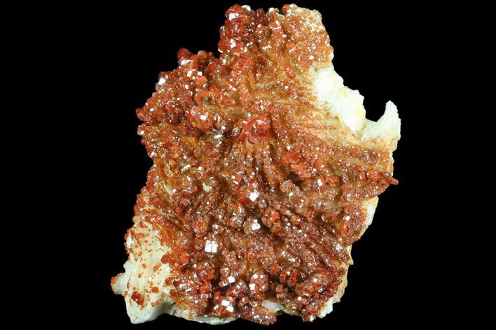"5"" Ruby Red Vanadinite Crystals on Pink Barite - Very Lustrous"
