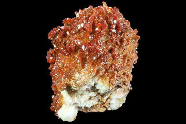 "5"" Ruby Red Vanadinite Crystals on Pink Barite - (Reduced Price)"