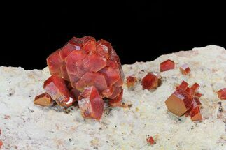 Large, Lustrous, Ruby Red Vanadinite Formation - Morocco For Sale, #80540
