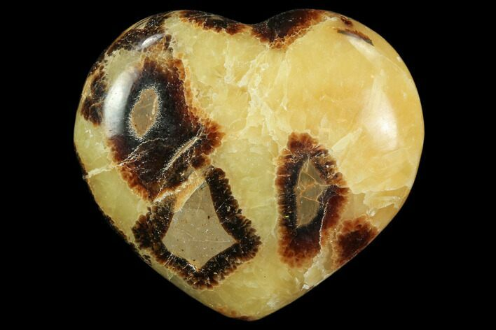 "3.2"" Polished Septarian Heart"