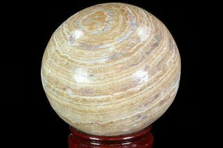 "3.3"" Polished, Banded Aragonite Sphere - Morocco For Sale, #82247"