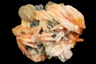 "Buy 1.8"" Pink/Orange Barite With Cerussite & Galena - Morocco - #82351"